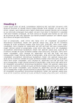 Newspaper Printing Word Template, Second Inner Page, 06393, Careers/Industry — PoweredTemplate.com