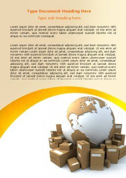Packages Word Template, Cover Page, 06394, Careers/Industry — PoweredTemplate.com
