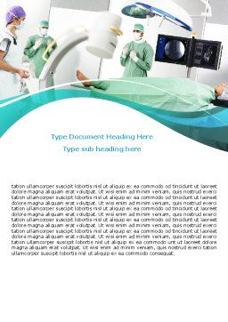 Preparing Of Operating Room Word Template, Cover Page, 06396, Medical — PoweredTemplate.com