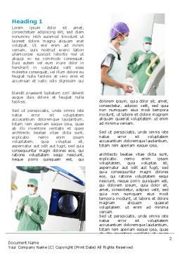 Preparing Of Operating Room Word Template, First Inner Page, 06396, Medical — PoweredTemplate.com