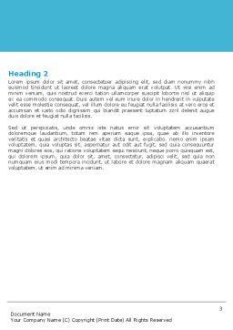 Preparing Of Operating Room Word Template, Second Inner Page, 06396, Medical — PoweredTemplate.com