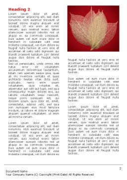 Red Dry Leaves Word Template First Inner Page