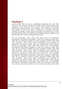 Red Dry Leaves Word Template Second Inner Page