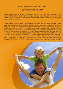 Fatherhood Word Template, Cover Page, 06400, People — PoweredTemplate.com