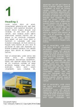 Freight Transportation Word Template, First Inner Page, 06409, Cars/Transportation — PoweredTemplate.com