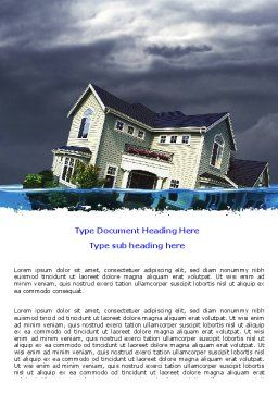 Mortgage Crisis Word Template, Cover Page, 06410, Construction — PoweredTemplate.com