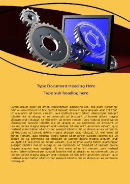 3D Design Word Template, Cover Page, 06411, Utilities/Industrial — PoweredTemplate.com