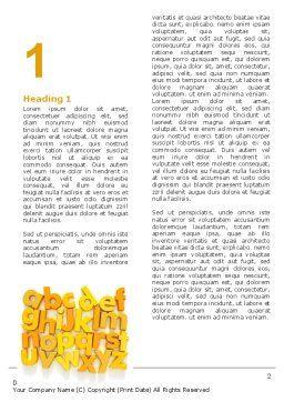 Orange Alphabet Word Template First Inner Page