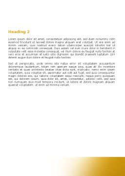 Orange Alphabet Word Template Second Inner Page