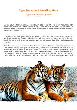 Tigers Word Template Cover Page