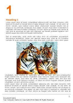 Tigers Word Template First Inner Page