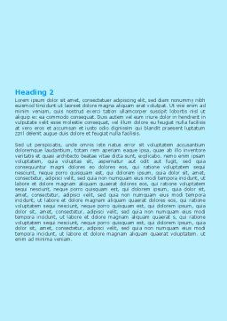 Solarium Word Template, Second Inner Page, 06422, Careers/Industry — PoweredTemplate.com