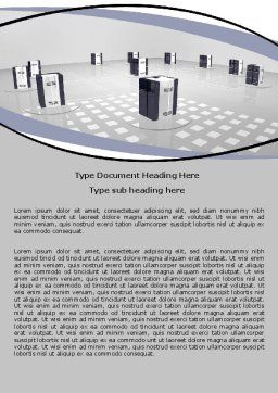 Computer Node Word Template, Cover Page, 06423, Technology, Science & Computers — PoweredTemplate.com