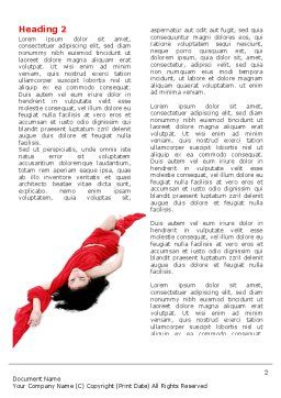 Red Dress Fashion Girl Word Template, First Inner Page, 06425, People — PoweredTemplate.com