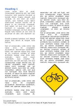 Yellow Bicycle Road Word Template, First Inner Page, 06426, Cars/Transportation — PoweredTemplate.com