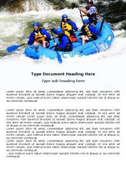 Whitewater Rafting Word Template, Cover Page, 06429, Sports — PoweredTemplate.com