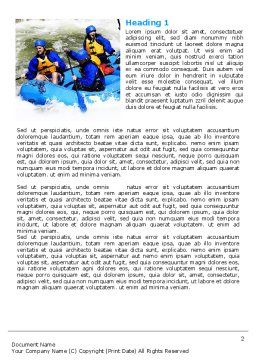 Whitewater Rafting Word Template, First Inner Page, 06429, Sports — PoweredTemplate.com