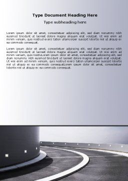 Turn Word Template, Cover Page, 06430, Construction — PoweredTemplate.com