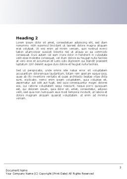 Turn Word Template, Second Inner Page, 06430, Construction — PoweredTemplate.com