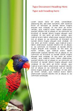 Australian Parrot Word Template Cover Page