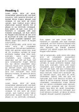 Bacilli In Green Color Word Template, First Inner Page, 06436, Medical — PoweredTemplate.com