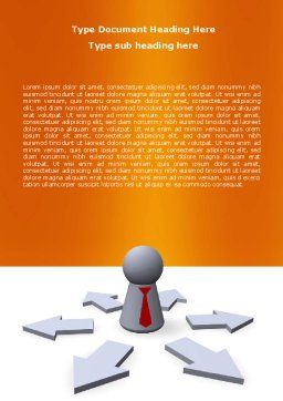 Top Management Word Template, Cover Page, 06438, Consulting — PoweredTemplate.com