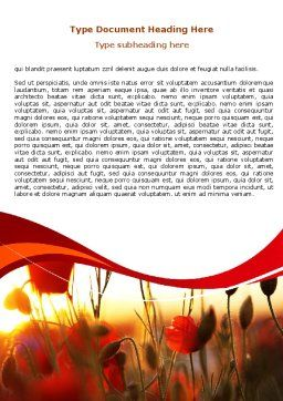 Poppies Word Template, Cover Page, 06440, Nature & Environment — PoweredTemplate.com