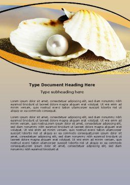 Pearl Shell Word Template, Cover Page, 06446, Careers/Industry — PoweredTemplate.com