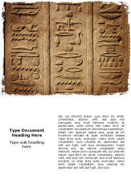 Egyptian Petroglyphs Word Template Cover Page
