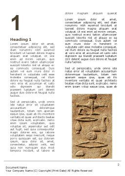 Egyptian Petroglyphs Word Template First Inner Page