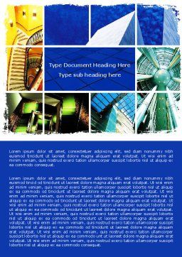 Building Inner Planning Word Template, Cover Page, 06451, Construction — PoweredTemplate.com