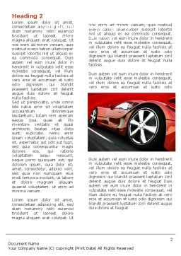 Red Supercar Word Template, First Inner Page, 06454, Cars/Transportation — PoweredTemplate.com