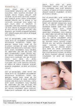 Baby Smile Word Template, First Inner Page, 06456, People — PoweredTemplate.com