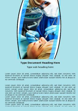 Dental Surgery Word Template, Cover Page, 06457, Medical — PoweredTemplate.com