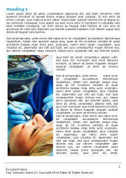 Dental Surgery Word Template, First Inner Page, 06457, Medical — PoweredTemplate.com