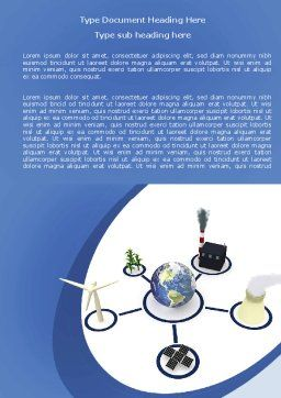 Energy Resources Word Template, Cover Page, 06460, Nature & Environment — PoweredTemplate.com