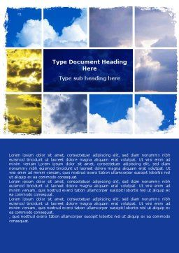 Various Clouds Word Template, Cover Page, 06464, Nature & Environment — PoweredTemplate.com