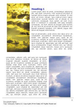 Various Clouds Word Template, First Inner Page, 06464, Nature & Environment — PoweredTemplate.com