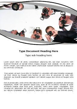 Photographers Word Template Cover Page