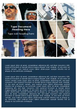 Palestinian Word Template, Cover Page, 06467, Business — PoweredTemplate.com