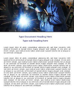 Arc Welding Word Template, Cover Page, 06470, Utilities/Industrial — PoweredTemplate.com