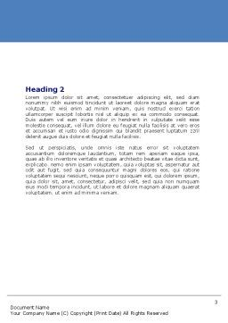 Arc Welding Word Template, Second Inner Page, 06470, Utilities/Industrial — PoweredTemplate.com