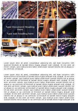City Traffic Word Template, Cover Page, 06476, Cars/Transportation — PoweredTemplate.com