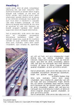 City Traffic Word Template First Inner Page