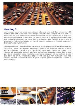 City Traffic Word Template, Second Inner Page, 06476, Cars/Transportation — PoweredTemplate.com