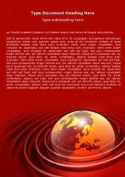 Red Globe Word Template, Cover Page, 06477, Global — PoweredTemplate.com