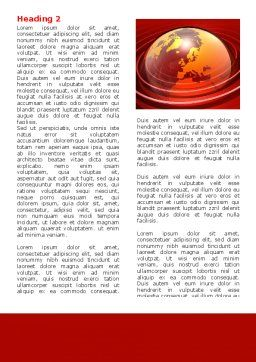 Red Globe Word Template, First Inner Page, 06477, Global — PoweredTemplate.com