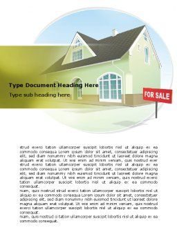 Realty For Sale Word Template Cover Page