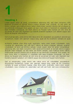 Realty For Sale Word Template First Inner Page