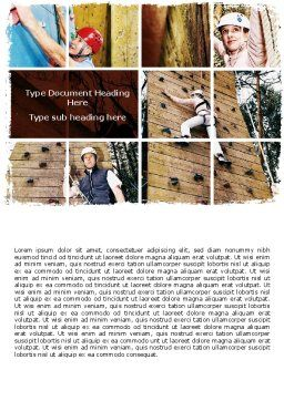 Bouldering Word Template, Cover Page, 06481, Sports — PoweredTemplate.com
